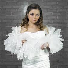 etole pour mariage etole de mariage ou cérémonie en plumes d organza blanc ivoire ou