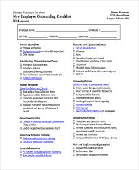 sample new employee checklist 16 free documents download in pdf