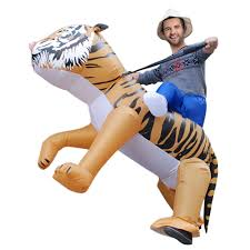 anself cute inflatable tiger costume suit blow up fancy