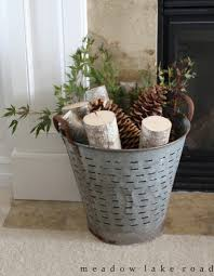 9 different ways to to decorate for fall using olive buckets