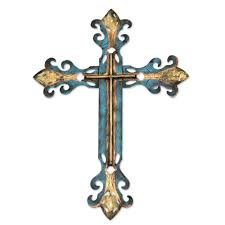 handcrafted blue religious cross royal cross novica