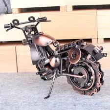 retro vintage handmade iron motorbike motorcycle model home