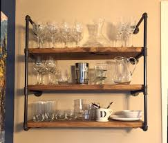 Open Kitchen Storage Industrial Kitchen Or Bathroom Floating Shelf Wall Unit Rustic