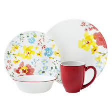 Corelle 76 Piece Dinnerware Set Vive Cheerful Garden 16 Pc Dinnerware Set Review Corelle Dinnerware