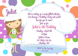 printed birthday invitations cooking party invitation baking birthday invitations