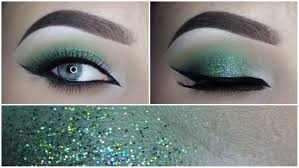 green glitter eye makeup tutorial makeupbyan youtube