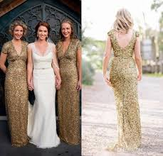 sparkly rose gold champagne cheap bridesmaid dresses 2016 pluning