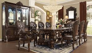 walnut dining room chairs homey design hd 8006 victorian dark walnut dining set usa