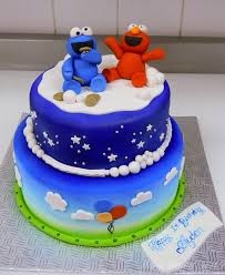 elmo and cookie monster cake by buttercreamfantasies on deviantart