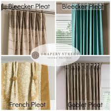 popular curtains top 3 most popular drapery pleat styles drapery panels window