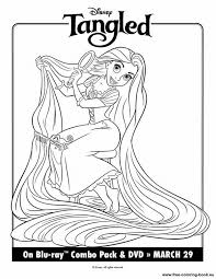 coloring pages tangled disney rapunzel 1 printable