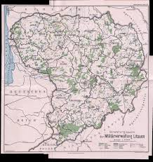 Map Of Lithuania Map Of German Occupied Lithuania 1917 2695x2857 Mapporn