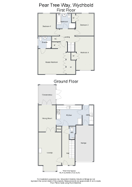 Floor Plan To Scale by Four Bedroom Detached House Pear Tree Way Wychbold Bromsgrove