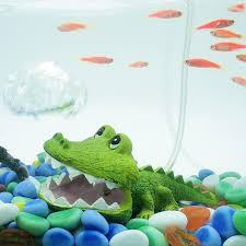 new fish tank simulation crocodile ornaments air accessory