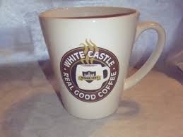 white castle coffee mug real good coffee you crave advertising