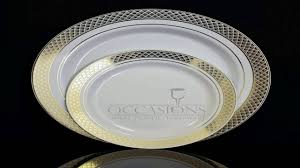 silver wedding plates 7 5in silver ovals design premium plastic wedding plates 40 pack