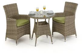 maze rattan milan 2 seat bistro set with dining chairs