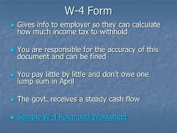filling out a w 4 form w 4 form gives info to employer so they