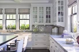 Gray Stone Backsplash by Sash Kitchen Windows Design Ideas