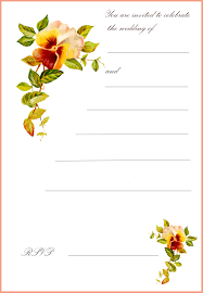 Wedding Invitations Blank Cards Blank Printable Invitation Cards Printable Invitations