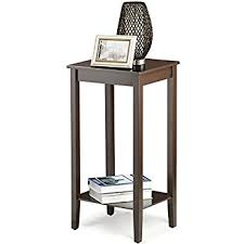 Tall Coffee Table Amazon Com Topeakmart Tall Side Coffee End Table Solid Wood