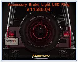 3rd brake light led ring rugged ridge jeep accessory brake light led ring 11585 04