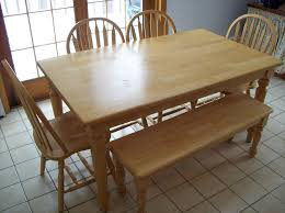 Light Oak Kitchen Table And Chairs Kitchen Table With Benches Treenovation