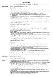 sle resume for business analyst role in sdlc phases system implementation analyst resume sles velvet jobs