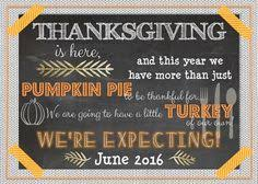 thanksgiving pregnancy announcement fall pregnancy announcement