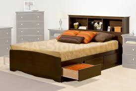 interior exciting ideas using black wooden platform bed with