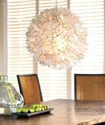 White Shell Chandelier Capiz Lotus Flower Chandelier Decorative Warm White Shell Hanging