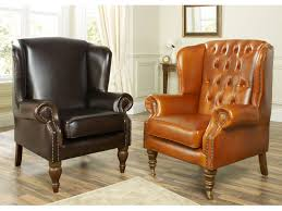 Leather Wingback Chair Leather Wingback Chair Flower Home Decorations Insight