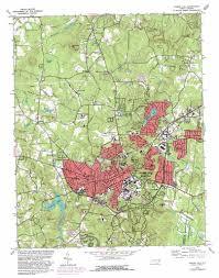 Map Nc Chapel Hill Topographic Map Nc Usgs Topo Quad 35079h1