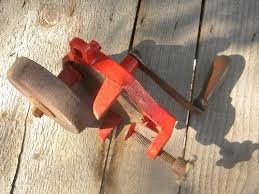 Bench Grinder Knife Sharpener Old Hand Crank Shop Bench Grinder For Sharpening Knives Scissors