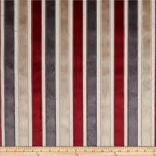 Regency Stripe Upholstery Fabric Curtain Fabric Upholstery Fabric Velvet Stripe Gold Red