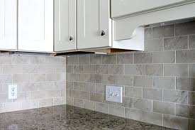 Marble Subway Tile Kitchen Backsplash White Subway Tile Backsplash What Color Grout Tikspor