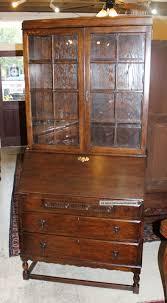 Wood Secretary Desk by English Antique Secretary Desk Made From Oak 1900 1950 Photo