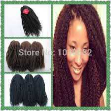 what type of hair is use for big box braids marley braiding hair extension synthetic afro kinky bulk hair