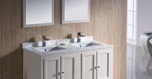 48 White Bathroom Vanity Bathroom 48 Fresca Oxford Fvn20 Aw Traditional Double Sink