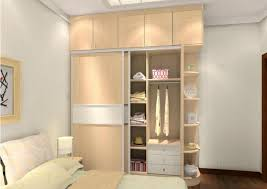 modern simple bedroom design with cool ambience and wardrobe