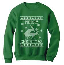 reindeer humping ugly christmas sweater sweatshirt merry xmas