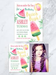 kids birthday invitations u2022 tda party on paper