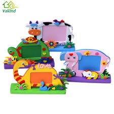 eva foam cartoon photo frame for kids child diy 3d stickers