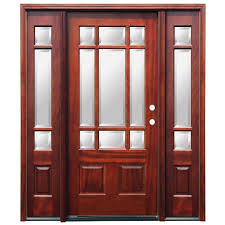Prehung Exterior Door Home Depot Steves Sons 68 In X 80 In Craftsman Bungalow 6 Lite Right