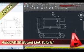 tutorial autocad line autocad 2d design bucket link modeling tutorial youtube