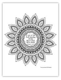 2017 mutual theme coloring page 8 5x11 mandala by ldsprintables