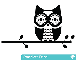 owl on branch your decal shop nz designer wall art decals owl on branch