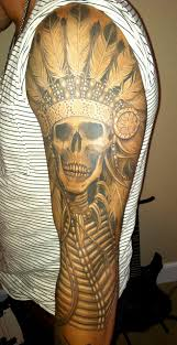 20 native american skull tattoos