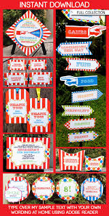 carnival party printables carnival parties carnivals and party