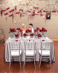 red and white table decorations for a wedding red table decorations ideas fascinating red white and silver wedding